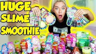 Download MIXING ALL MY STORE BOUGHT SLIMES!! GIANT SLIME SMOOTHIE! SATISFYING SLIME Video