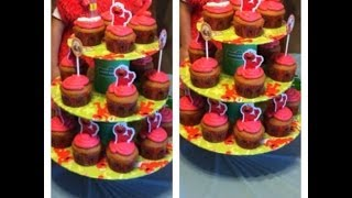 Download ELMO BIRTHDAY PARTY - CUPCAKE STAND - TUTORIAL Video