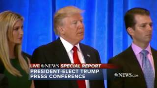 Download FULL: President-elect Donald Trump tears in to CNN & Buzzfeed at today's press conference Video