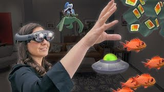 Download Test Driving Magic Leap's Augmented-Reality Goggles Video
