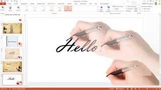 Download สาธิตเทคนิคการทำอนิเมชัน ปากกาเขียนตัวอักษร ด้วย PowerPoint Video
