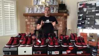 Download ShoeZeum One Dozen Different BRED Nike Air Jordan 1s Video