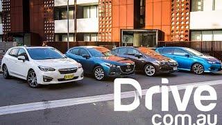 Download 2017 Subaru Impreza v Mazda3 v Toyota Corolla v Holden Astra Comparison | Drive.au Video