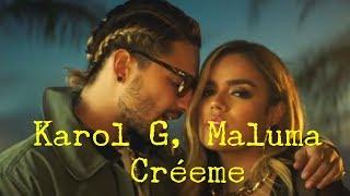 Download Karol G, Maluma - Créeme (Letras) Video