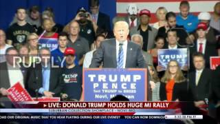 Download USA: 'Follow the money' - Trump rails against Clinton's donors Video