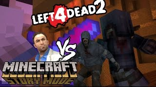 FNAF Sister Location vs HELLO NEIGHBOR ! Minecraft Story Mode