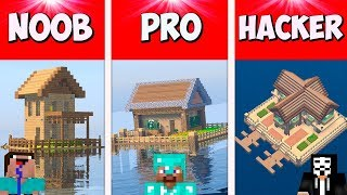 Download Minecraft NOOB vs PRO vs GOD: HOUSE ON WATER BUILD CHALLENGE in Minecraft / Animation Video
