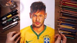 Download Neymar Júnior - speed drawing   drawholic Video