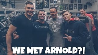 Download MEETING ARNOLD AT THE MECCA || LA Fit Ft. Rob Lipsett, Justin Martilini, & James Liss Video