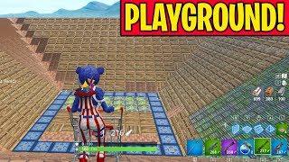 Download PLAYGROUND SNIPER SHOOTOUT!!! (Shopping Cart Sniper 1v1v1v1 in Fortnite Playground Mode) Video
