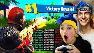 Download I Pretended To Be NINJA & Won Every Fortnite Game... (Ninja Fortnite Challenge) Video