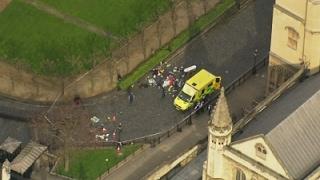 Download Raw: Aerials of Injured on Westminster Bridge Video