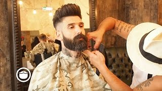 Download Getting a Beard Trim at the Barbershop | Carlos Costa Video