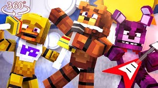 Download FREDDY'S ROCKSTAR BAND in 360° VR!! - 360° FNAF Minecraft Roleplay Video