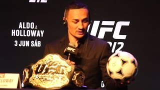 Download UFC 212: Max Holloway Explains Giving Jose Aldo a Soccer Ball as a Gift - MMA Fighting Video