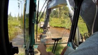 Download Excavator Busting Beaver Dams Video