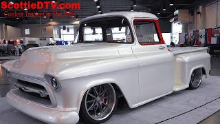 Download 1957 Chevrolet 3100 Pickup ″Snow White″ Street Truck The Grand National Roadster Show 2018 Video