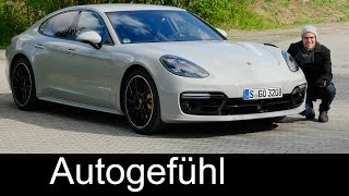 Download Porsche Panamera Turbo FULL REVIEW 550 hp Autobahn test driven 2018/2017 - Autogefühl Video