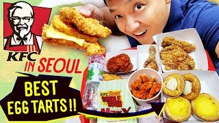 Download Trying KFC in Seoul South Korea SPICY FRIED CHICKEN & Best Egg Tarts! Video
