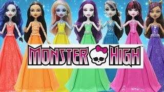 Download Play Doh Dress Monster High Draculaura Clawdeen Wolf Frankie Stein Cleo De Nile Video