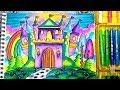 Download Cara menggambar dan mewarnai ISTANA & Tips Menggambar Bagus (Gradasi Oil Pastel) Video