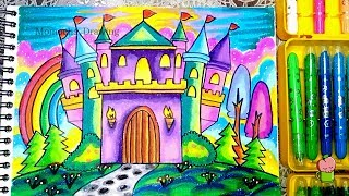 Cara Mewarnai Gradasi Crayon Unicorn In The Candyland How To