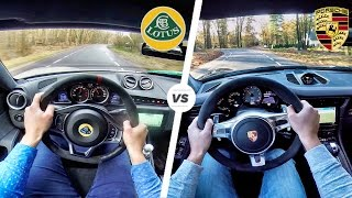 Download Porsche 911 GT3 vs Lotus Evora 400 Acceleration SOUND & POV Video