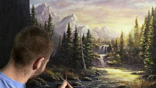Download Sparkling Mountain Stream | Paint with Kevin ® Video