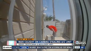 Download Man caught on camera stealing a/c unit Video