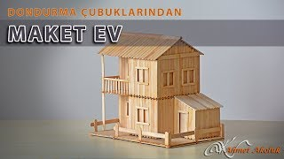 Download Dondurma Çubuklarından Maket Ev Video