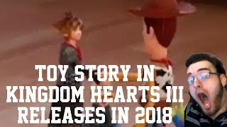 Download KINGDOM HEARTS 3 D23 2017 TRAILER REACTION! TOY STORY CONFIRMED! RELEASE WINDOW CONFIRMED! Video