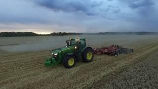 Download moisson du blé + déchaumage 2017 100% John Deere [drone] Video