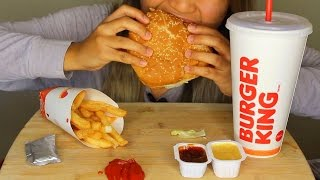 Download ASMR: Burger King Whopper, Fries and Chocolate Pie *Eating Sounds* Video