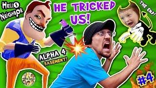 Download HELLO NEIGHBOR = BACK STABBER! Alpha 4 Basement Trolls Trick! FGTEEV Pt 4 The End Finale + Bendy Ink Video