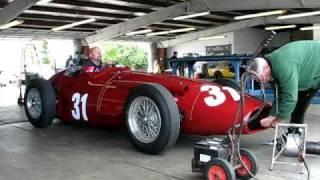 Download Starting a Vintage Maserati Race Car Video