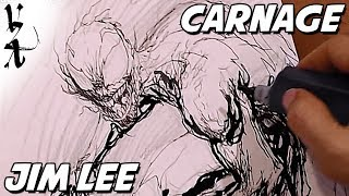 Download Jim Lee drawing Carnage Video
