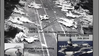 Download Midway Magic and Crash on deck! Were you stationed on the USS Midway Carrier? (VMFP-3 1976 Video) Video