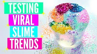 Download TESTING VIRAL INSTAGRAM SLIME TRENDS! RAINBOW GLITTER SLIME, INSTANT CLEAR SLIME, NAPPY SLIME + MORE Video