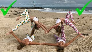 Download Extreme Yoga Challenge Big sisters vs Little sisters | The Rybka Twins Video