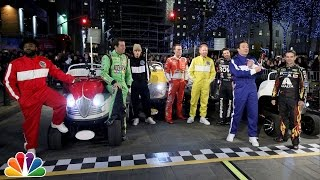 Download The Tonight Show NASCAR 500 Race in Rockefeller Plaza Video