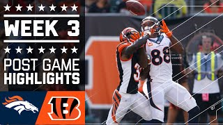 Download Broncos vs. Bengals | NFL Week 3 Game Highlights Video