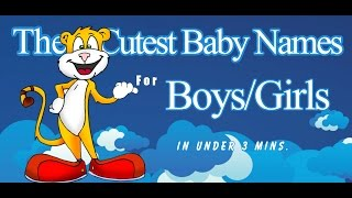 Download Cute Baby Names for Girls and Boys. Video