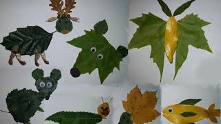 Download Animais feitos com folhas de árvores - DIY - Animals made from tree leaves Video