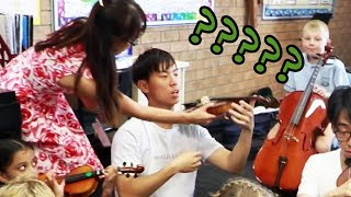 Download We Go Back to School and Join a Beginner's Strings Class Video