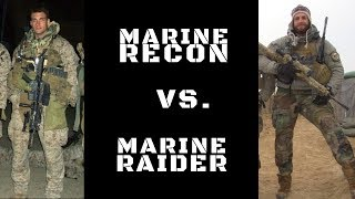 Download DIFFERENCE BETWEEN MARINE RECON & MARINE RAIDERS Video
