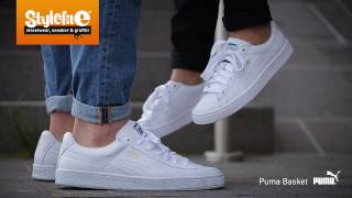 Download Puma Basket Classic LFS Sneaker white (On-Feet) @Stylefile Video