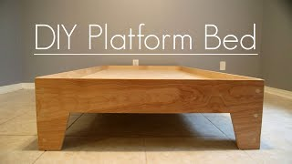 Download DIY Platform Bed - Stone and Sons (Plans Available) Video