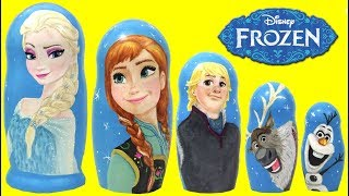 Download Disney Frozen 2 Elsa Anna Olaf Kristof Sven Nesting Dolls Matryoshka Magic Surprises Video