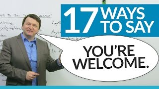 Download 17 ways to say ″YOU'RE WELCOME″ in English Video