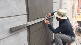 Download How to make a professional wall, using sand and cement ratio 1/11 Video